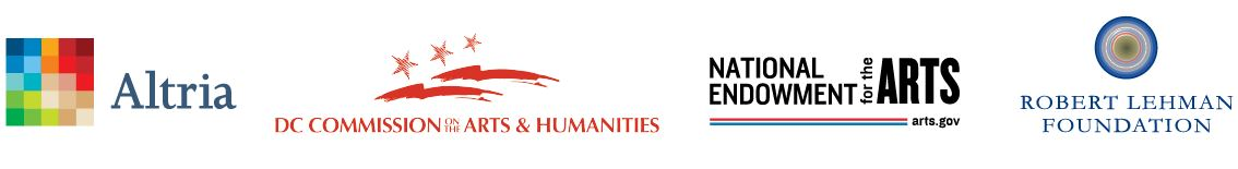Altria, DC Commission on the Art and Humanities, NEA, and Robert Lehman Foundation logos