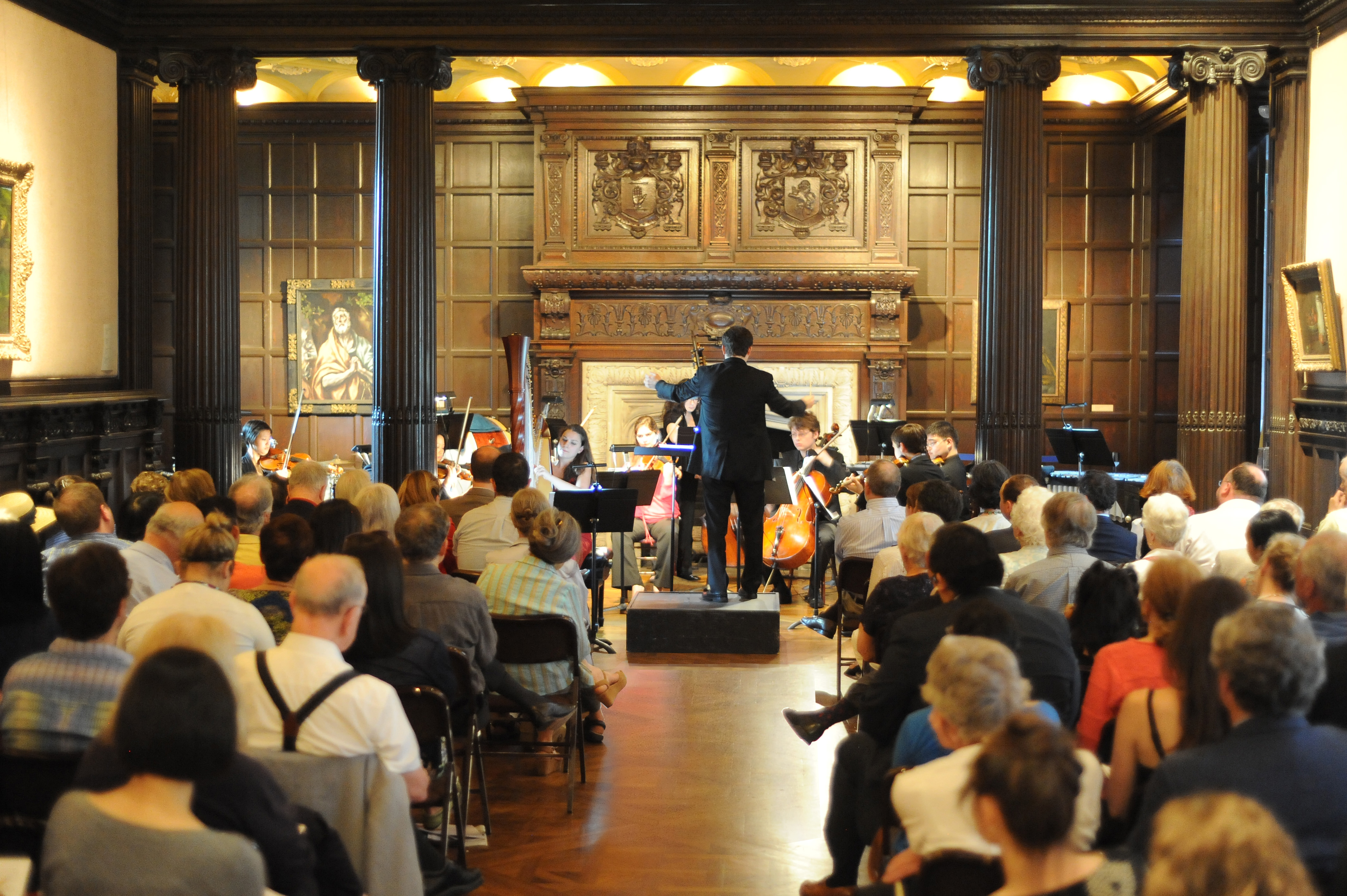 Photograph of Phillips Music Room performance with seated audience