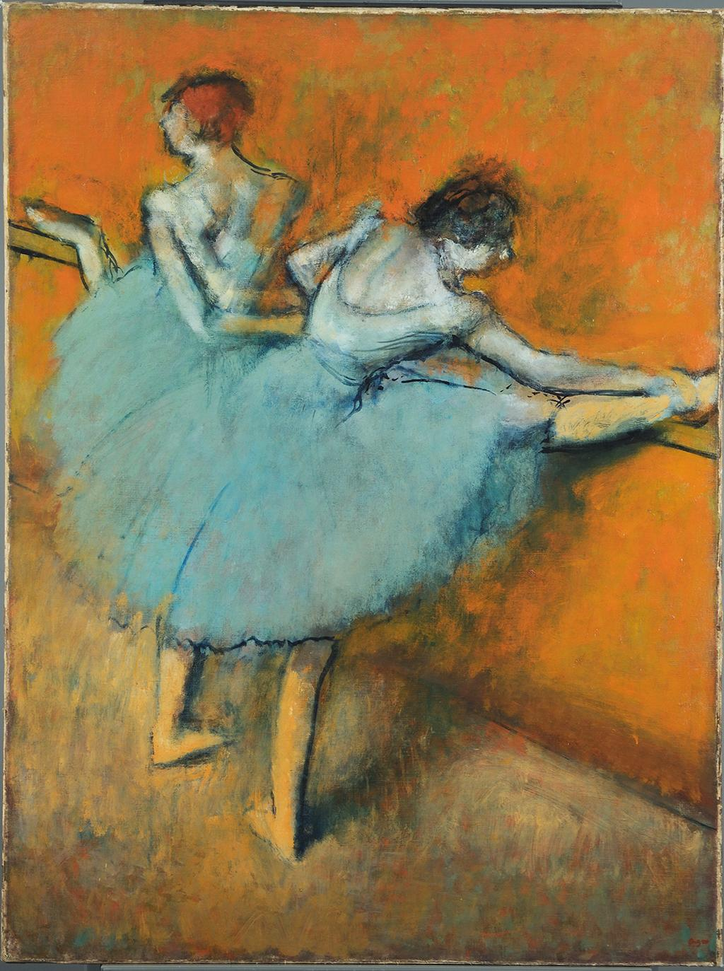 Edgar Degas, Dancers at the Barre, early 1880s-c. 1900