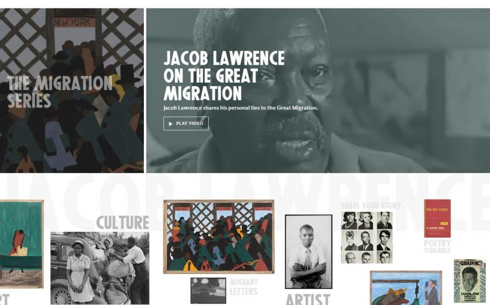 Screenshot of Jacob Lawrence microsite