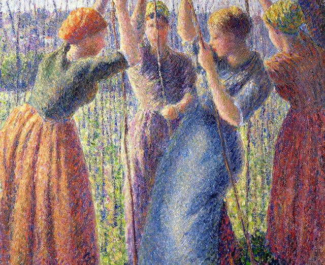 "Camille Pissarro, ""Peasant Women Planting Poles in the Ground,"" 1891"