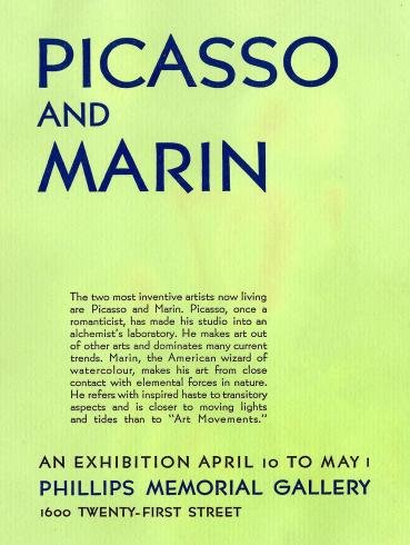Picasso and Marin exhibition, 1938 brochure