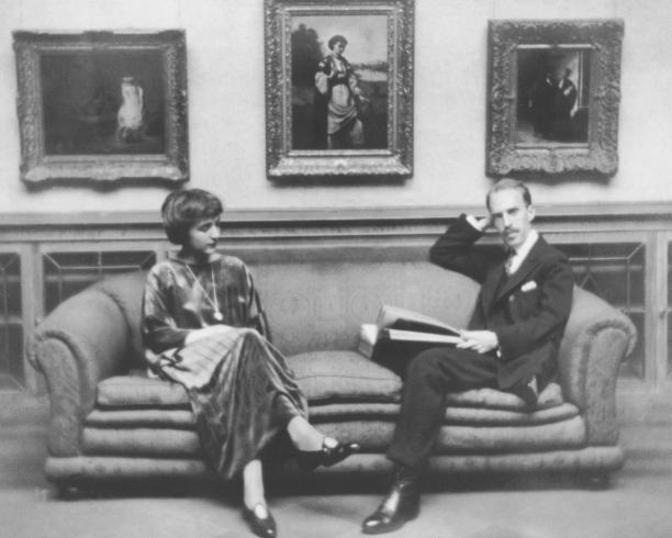 Photograph of Marjorie and Duncan Phillips in Main Gallery circa 1920