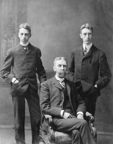 Photograph of Duncan Phillips, Jim Phillips, and their father, Major Phillips from circa 1900