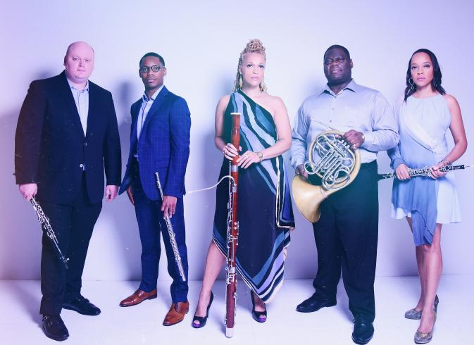 photograph of wind quintet Imani Winds