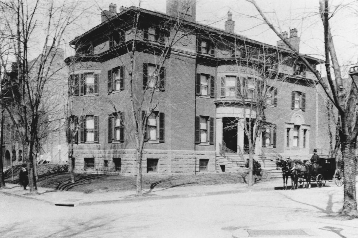Photograph of the Phillips family home circa 1900
