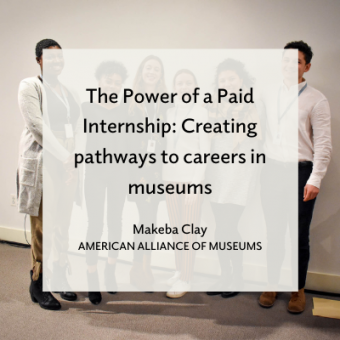 Promo for Makeba Clay article for AAM blog