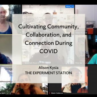 Cultivating Community, Collaboration, and Connection during COVID title card